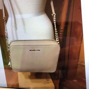 Michael KORS Crossbody Leather Bag Purse Oat NWT